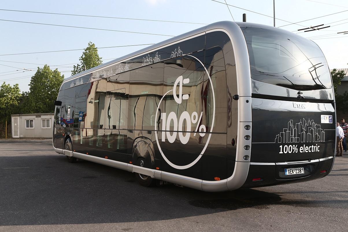 Πρώτη δοκιμαστική διαδρομή ενός ακόμη ηλεκτροκίνητου λεωφορείου